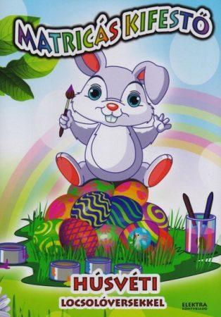 Matricás kifestő húsvéti locsolóversekkel