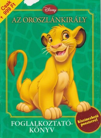 Az oroszlánkirály - Foglalkoztatókönyv - Antikvár