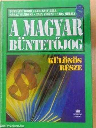 A magyar büntetőjog különös része